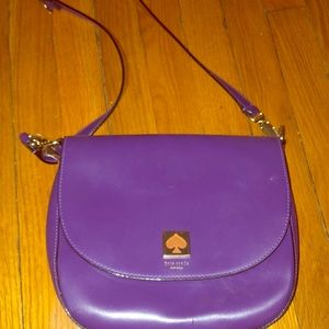 Late spade purple bag